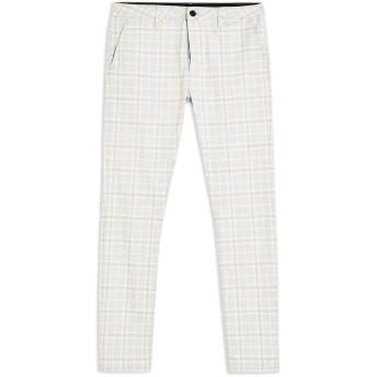 《9/20まで! 限定セール開催中》TOPMAN メンズ パンツ グレー 28W-32L ポリエステル 65% / レーヨン 32% / ポリウレタン 3% Grey Check Stretch Skinny Trousers