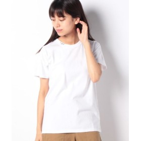 (X-girl/エックスガール)MINI CURSIVE LOGO S/S REGULAR TEE/レディース ホワイト