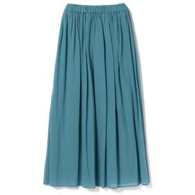 【30%OFF】 ビームス ウィメン Demi Luxe BEAMS / コットンシフォン ロングスカート レディース BLUE ONESIZE 【BEAMS WOMEN】 【セール開催中】