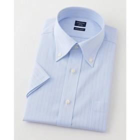 【SALE(三越)】<シャツファクトリー/SHIRT FACTORY> 半袖色ドビーワイシャツ(CFN633-250)(MO018N0MO00000GHL) 250スカイブルー 【三越・伊勢丹/公式】