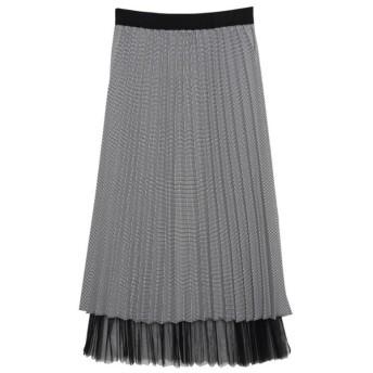 Re: EDIT レイヤード風チュールプリーツスカート ブラック