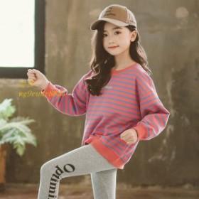 子供服 スウェット Tシャツ 110 ゆったり キッズ 春秋 長袖 120 新作 スウィート 子ども かわいいプリント 女の子 130 140 150
