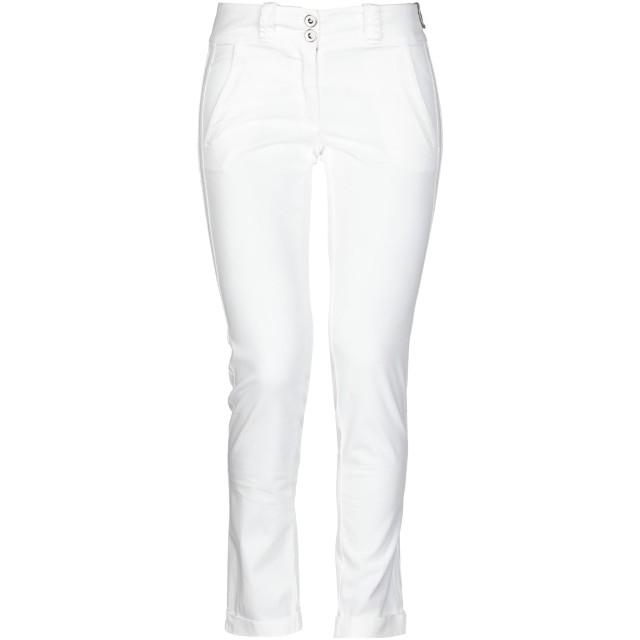《セール開催中》ANNARITA N レディース パンツ ホワイト 27 97% コットン 3% ポリウレタン
