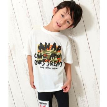 [マルイ]【セール】手書きロゴ迷彩ビッグTシャツ/アナップキッズ&ガール(ANAP KIDS&GIRL)