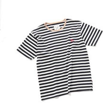 【メンズビギ:トップス】ボーダーTシャツ/コットン100%