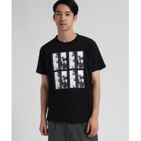(tk. TAKEO KIKUCHI/ティーケー タケオキクチ)PHOTO BOOTHプリントTシャツ/メンズ ブラック(019)