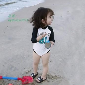 水着 女の子 子供 紫外線防止 長袖 子供服 スイミング 子供服 女の子水着 キッズ ベビー水着 90 80 110 水着 100 帽子