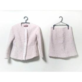 マックスマーラスタジオ MAXMARA STUDIO スカートスーツ サイズ2 M レディース 新品同様 ピンク×マルチ【中古】