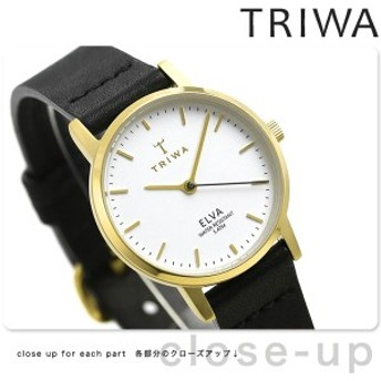 【あす着】TRIWA トリワ 時計 スウェーデン 北欧 シンプル 革ベルト 28mm レディース 腕時計 エルバ ELST103-EL010113