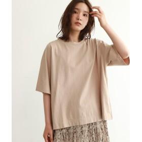OZOC(オゾック) [洗える・36(S)/42(LL)WEB限定サイズ]五分袖ビッグTシャツ