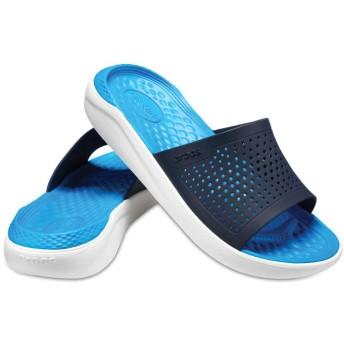 【クロックス公式】 ライトライド スライド LiteRide Slide ユニセックス、メンズ、レディース、男女兼用 ブルー/青 22cm,23cm,24cm,25cm,26cm,27cm,28cm,29cm slide スライドサンダル スポーツサンダル シャワーサンダル サンダル