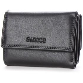 バルコス BARCOS コンパクトウォレット プラム (ブラック)