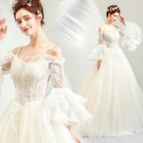 ウエディングドレス レディース 素敵な ボートネック キャミ ブライダルドレス 上品な 花嫁ドレス オシャレ ウエディング プリンセスドレ