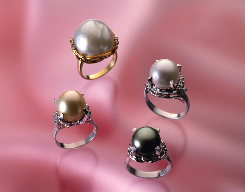 美しい真珠の指輪