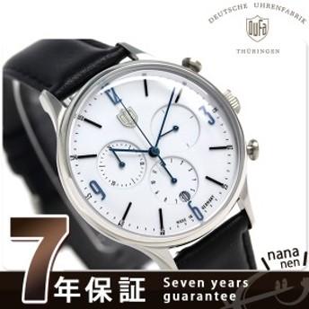 【あす着】DUFA ドゥッファ ミース クロノグラフ 38mm ドイツ製 メンズ DF-9002-03 腕時計 ホワイト