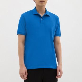 (GU)GUドライポロシャツ(半袖)CL BLUE L