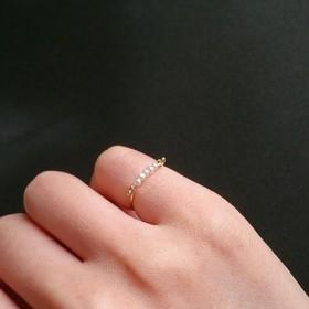 pinkie ring / pearl