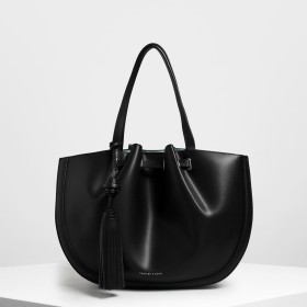 タッセルトートバッグ / Tassel Tote Bag (Black)