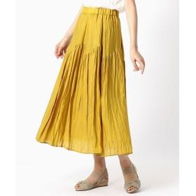 COMME CA ISM / コムサイズム デザイン切り替え ギャザースカート