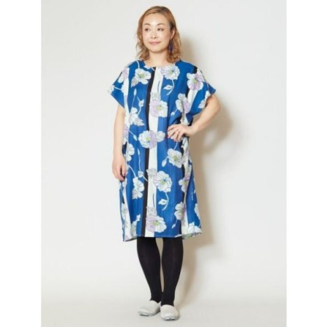 (CAYHANE/チャイハネ)【カヤ】縞ポピーワンピース 7IA-9209/レディース ブルー