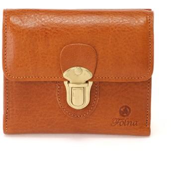 Folna [フォルナ]Folnaヌメオイルシュリンク差し込み金具付き二つ折り財布 財布,キャメル