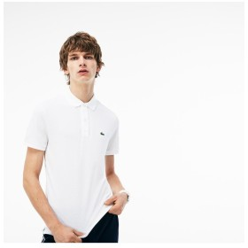 ラコステ スリムフィットポロシャツ (半袖) メンズ ホワイト 2(日本サイズS) 【LACOSTE】