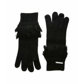 マイケルコース レディース 手袋 アクセサリー Rib Fringe Gloves Black/Silver
