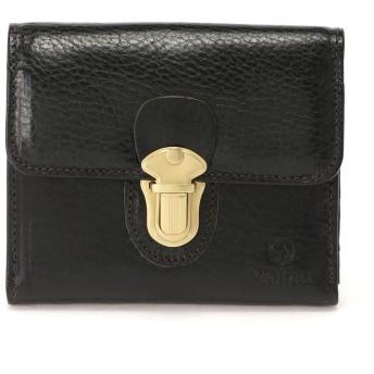 Folna [フォルナ]Folnaヌメオイルシュリンク差し込み金具付き二つ折り財布 財布,ブラック
