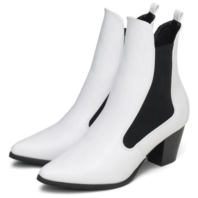 Re: EDIT サイドゴアポインテッドトゥショートブーツ PUホワイト