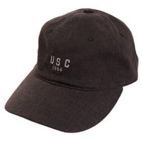 【Super Sports XEBIO & mall店:帽子】リネン刺繍 USC キャップ 897PA9ST1672 BLK