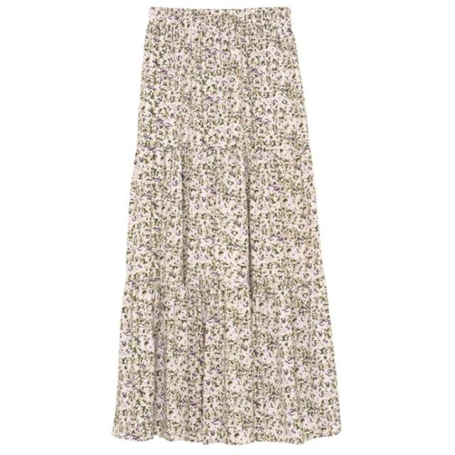 Re: EDIT ヴィンテージサテン小花柄ティアードスカート オフホワイト