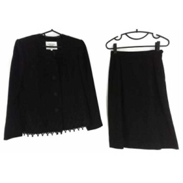 3135e1c09196c1 キミジマ kimijima スカートスーツ サイズ9 M レディース 黒 肩パッド/BOUTIQUE【中古】