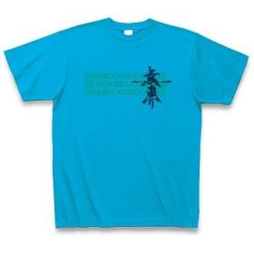 有効的異常症候群無界◆アート文字◆ロゴ◆ヘビーウェイト◆半袖◆Tシャツ◆ターコイズ◆各サイズ選択可