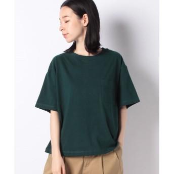 コムサイズム DIC ~日本の伝統色~ ポケット付 Tシャツ レディース グリーン M 【COMME CA ISM】
