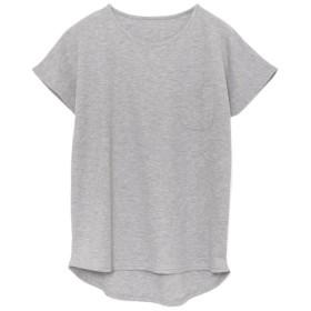 Re: EDIT コットンワッフル胸ポケットTシャツ 杢グレー