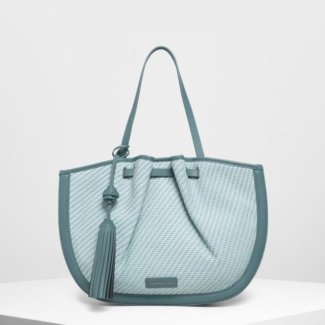 タッセルトートバッグ / Tassel Tote Bag (Teal)