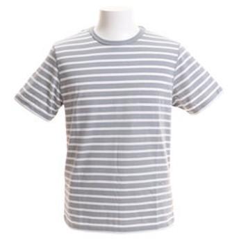【Super Sports XEBIO & mall店:トップス】Tシャツ メンズ ボーダー半袖 CH2BS9012 GY/WH オンライン価格