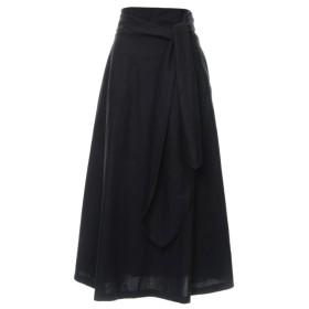 Re: EDIT 綿麻2WAYウエストリボンスカート ブラック