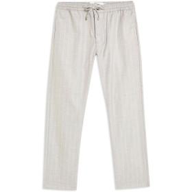 《期間限定 セール開催中》TOPMAN メンズ パンツ ライトグレー 34W-32L ポリエステル 65% / レーヨン 32% / ポリウレタン 3% Grey Stripe Trousers