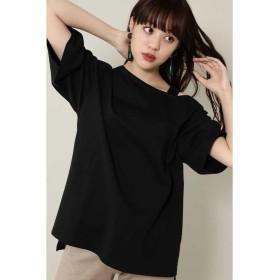 ローズバッド ワンショルダービッグTシャツ レディース ブラック 【ROSE BUD】