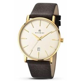 【当店1年保証】アキュリストAccurist Unisex-Adult Analogue Classic Quartz Watch with Leather Str