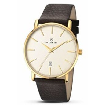 【当店1年保証】アキュリストAccurist Unisex-Adult Analogue Classic Quartz Watch with Leather Str