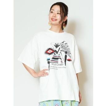 チャイハネ キャンピングビッグシルエットTシャツ CAS 9206 レディース ホワイト Free 【CAYHANE】