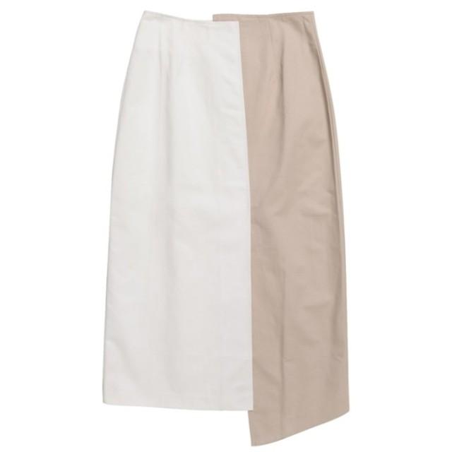 Re: EDIT フロントスリットバイカラータイトスカート ベージュ