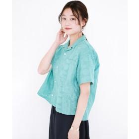 haco! 京都の浴衣屋さんと作った浴衣生地のシャツ(グリーン)