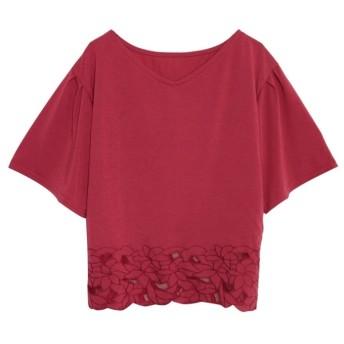 Re: EDIT 裾チュールレースフリルカットソー ピンク