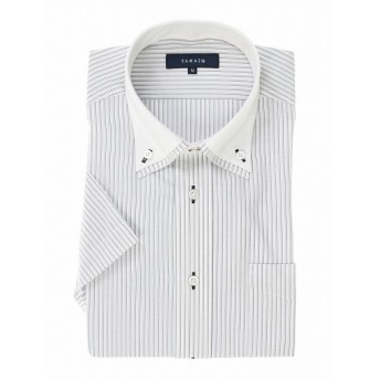 [マルイ] 形態安定レギュラーフィット2枚衿ドゥエボタンダウン半袖シャツ/タカキュー(TAKA-Q)