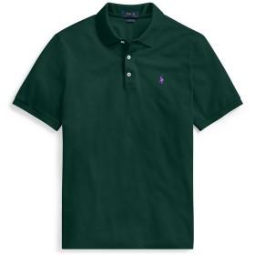 《期間限定セール開催中!》POLO RALPH LAUREN メンズ ポロシャツ ダークグリーン XS コットン 97% / ポリウレタン 3% SLIM FIT STRETCH MESH POLO