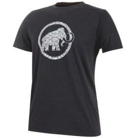 マムート MAMMUT Trovat T-Shirt Men Black Melange Prt1 (00269)