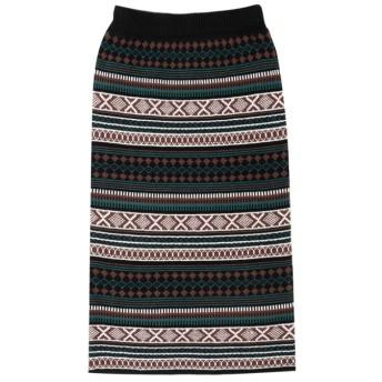 Re: EDIT 幾何学柄ジャガードニットタイトスカート ブラック